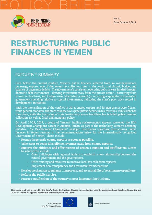 Restructuring Public Finances in Yemen