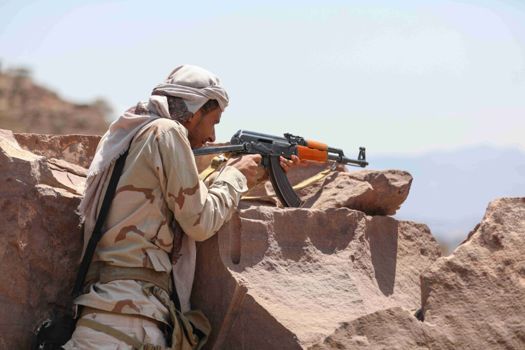 Pro-government troops battle against Houthi